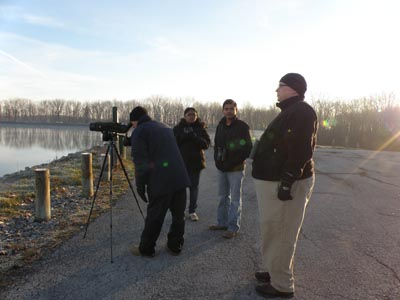 Birders at the Reservoir